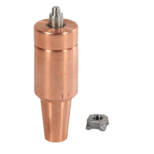 Welded nut electrode