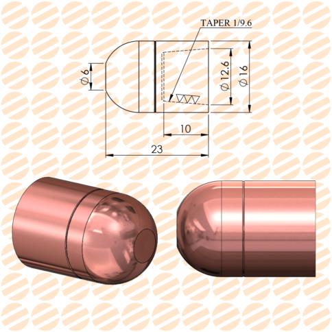 کلاهک نقطه جوش مدل D6