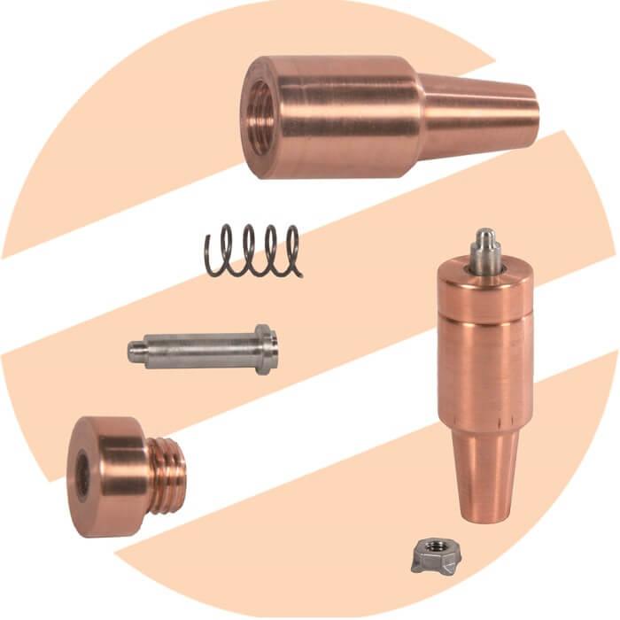 الکترود مهره جوش Nut welding electrode